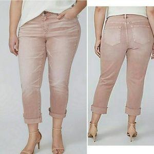 Lane Bryant Jeans - Lane Bryant Girlfriend Crop Blush Stretch Jean NWT